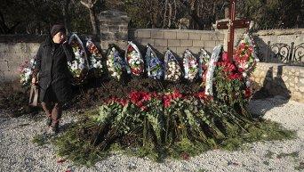 Предполагаемая могила Виктора Януковича-младшего в Севастополе