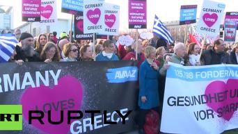 В Берлине прошла акция солидарности с Грецией