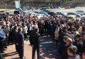 Акция протеста работников Юго-Западной железной дороги в Киеве