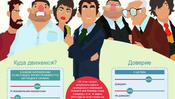 Украинцы устали от войны и политики. Инфографика