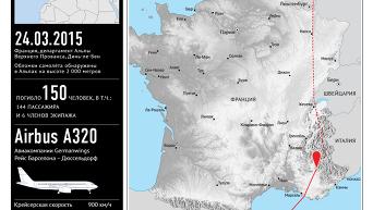 Крушение самолета Airbus A320 на юге Франции. Инфографика