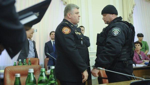 Сергей Бочковский при задержании на заседании правительства