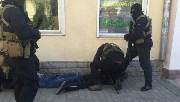 Задержание диверсантов в Одессе