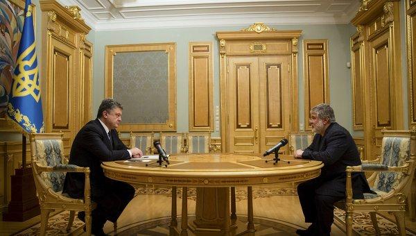 Президент Украины Петр Порошенко встретился с Игорем Коломойским. Архивное фото