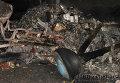 Шасси упавшего самолета на месте его падения
