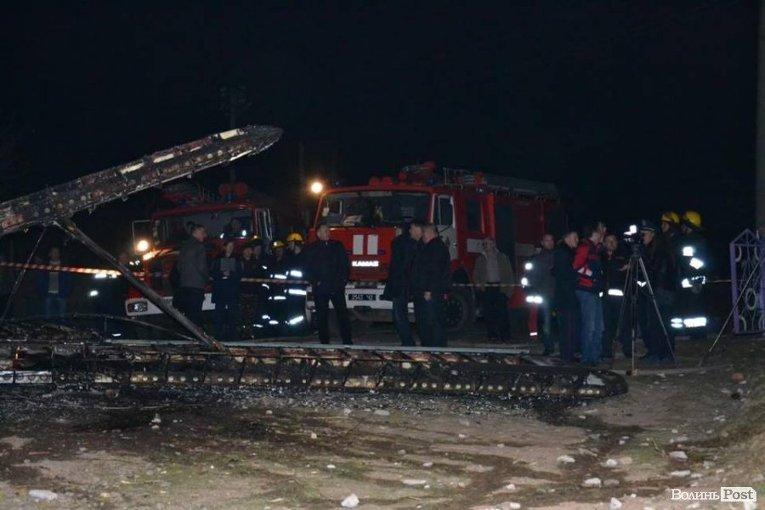 После крушения Ан-2 на месте падения возник пожар