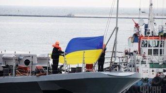 Флагман ВМС Украины, фрегат Гетман Сагайдачный (U130) в Одессе