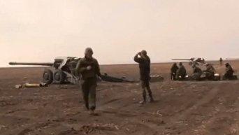 Учебные стрельбы артиллеристов под Мариуполем