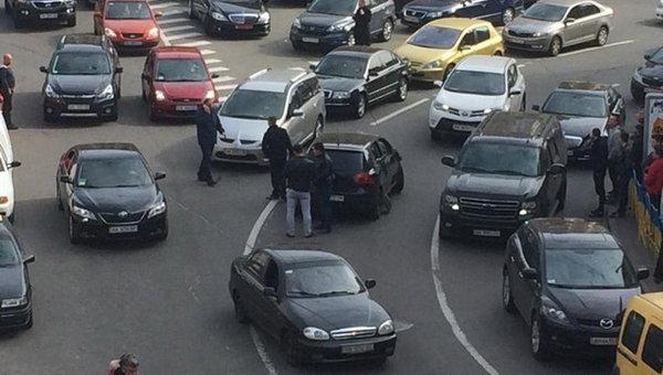 Перестрелка в центре Киева