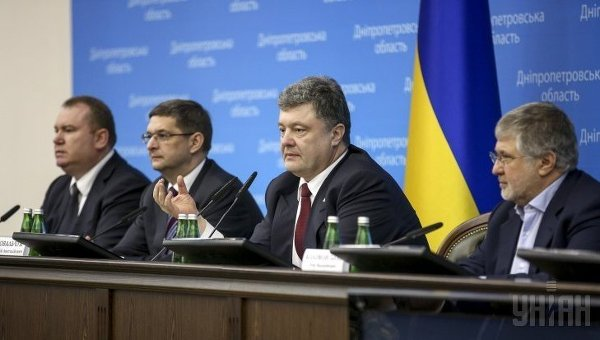 Валентин Резниченко, Виталий Ковальчук, Петр Порошенко и Игорь Коломойский