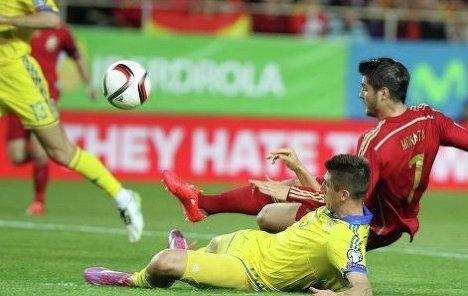 Отборочный матч на Евро-2016 Испания - Украина