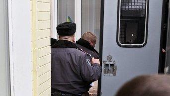Милиция у Печерского районного суда Киева