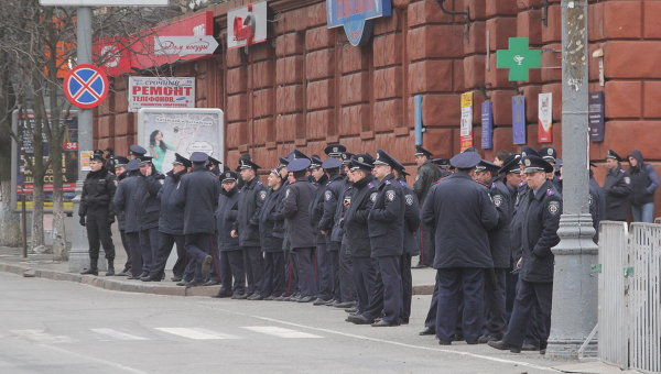 Работники милиции в Днепропетровске. Архивное фото