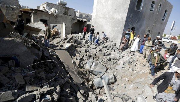 Последствия авиаударов международной коалиции в Йемене