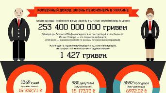 Инфографика. Копеечный доход и жизнь пенсионера в Украине