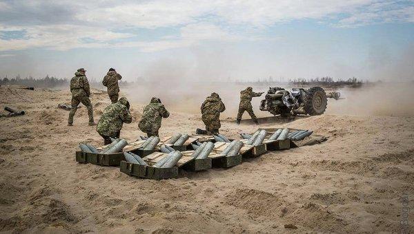 Учения бойцов ВСУ на полигоне под Житомиром