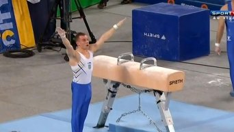 Украинский гимнаст Олег Верняев. Видео
