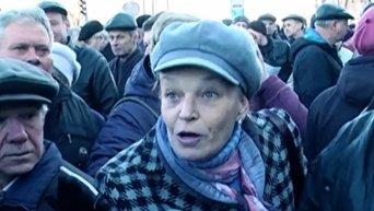 Митинг работников Харьковского авиационного завода