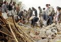 Разрушенные авиаударами дома близ Саны