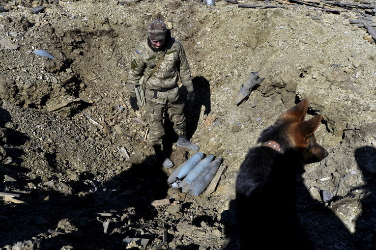 Украинский сапер в Донецке