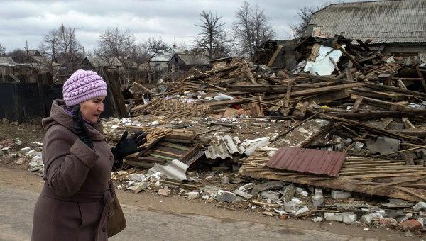 Разрушения в Дебальцево, 17 марта 2015 г