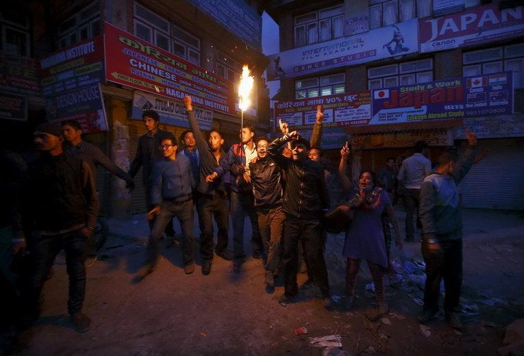 Акция протеста в Катманду
