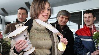 Торжественная встреча шахматистки Марии Музычук во Львове