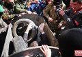В Ивано-Франковске начальника областного управления юстиции Василия Кавацюка затолкали в мусорный бак
