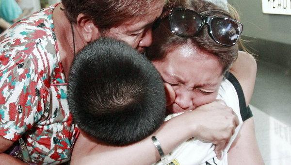 Встреча филиппинцев, эвакуированных из Йемена