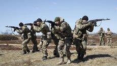 Украинские военные. Архивнео фото