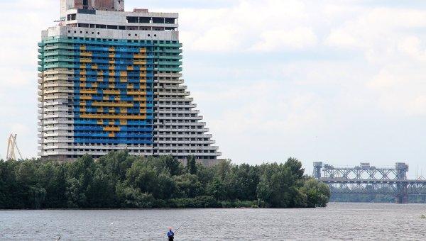 Недостроенная гостиница Парус в Днепропетровске