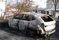 В Сумах подожгли автомобиль редактора портала. Видео
