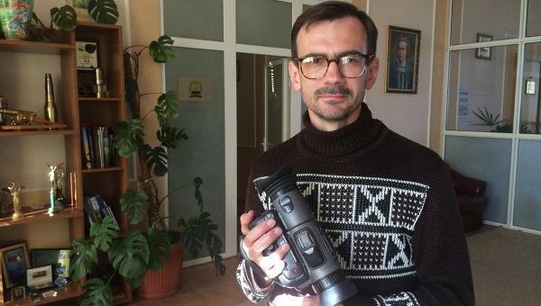 Российский журналист Андрей Лунев, раненный при взрыве мины возле Широкино