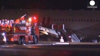 Неудачная посадка Airbus A320 в Хиросиме. Видео