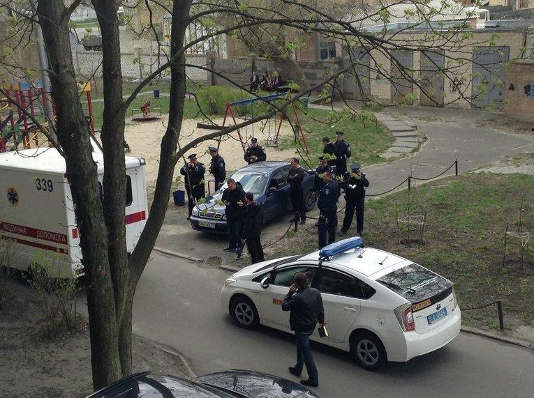 На месте убийства Олеся Бузины