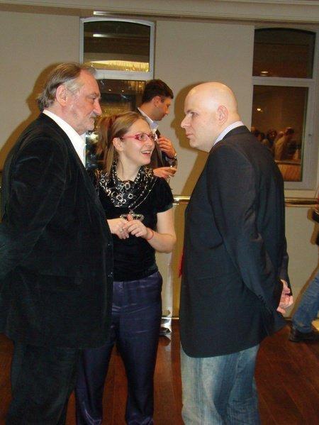 Олесь Бузина и Богдан Ступка