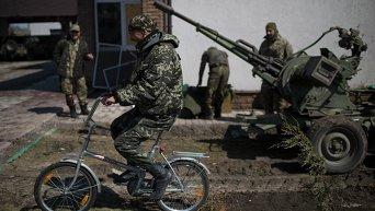Украинские военные в Широкино