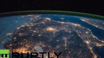 Спящая Европа: вид с МКС. Видео