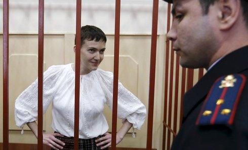 Савченко в вышиванке в суде