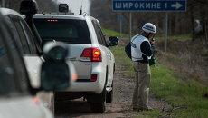 Наблюдатель ОБСЕ недалеко от деревни Широкино, 16 апреля 2015