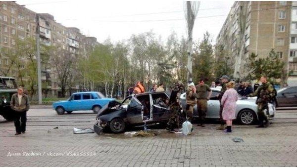 ДТП в Донецке с участием ополченцев