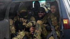 Украинские военнослужащие в Широкино