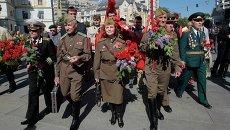 Ветераны на праздновании Дня победы в Киеве, 9 мая 2014 года