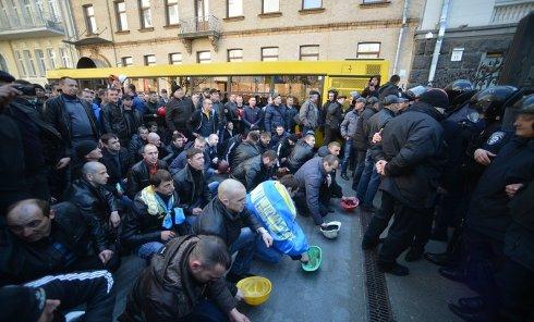 Марш шахтеров в Киеве