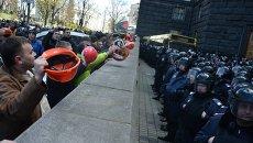 Акция протеста шахтеров у Минэнерго