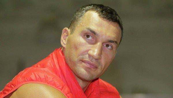 Владимир Кличко на открытой тренировке