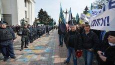 Работники МВД на акции протеста шахтеров под Верховной Радой