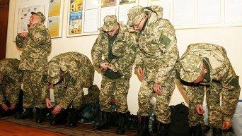 Призывники ВСУ. Архивное фото