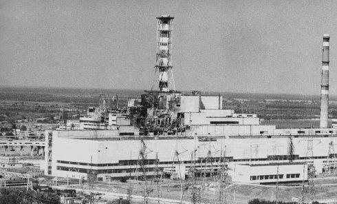 Верхняя часть Чернобыльской атомной электростанции