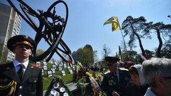 Открытие аллеи Героев Чернобыля в Киеве